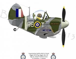 Robert Tuck Supermarine Spitfire  Biggin Hill, UK