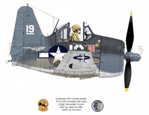 Grumman F6F  USS Intrepid