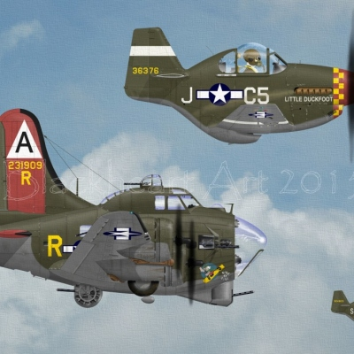 """Little Friends"" B-17G and P-51B"