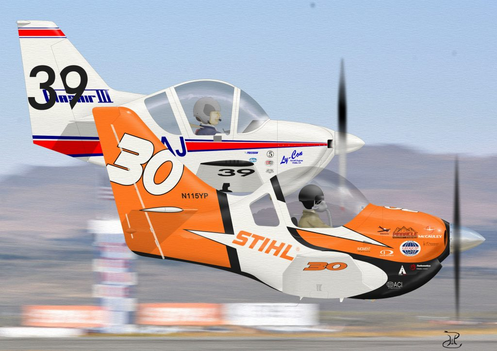 One Moment and Race 39 Reno Air races. Sport Class Air racing