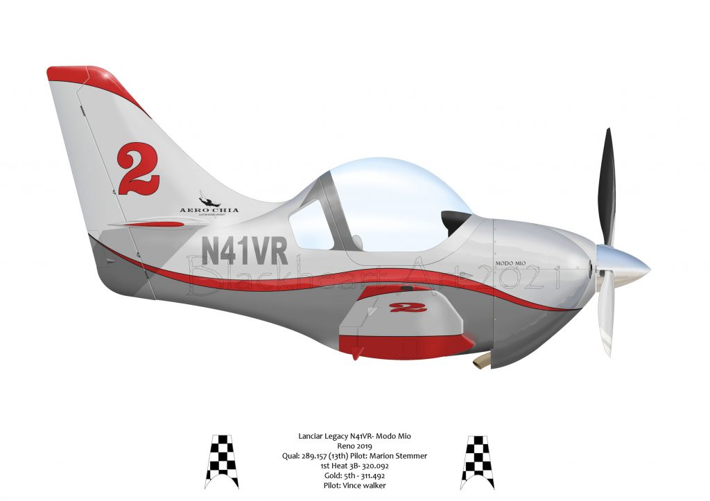 Modo Mio, Lancair Legacy, Sport class racer flown by Vince Walker.