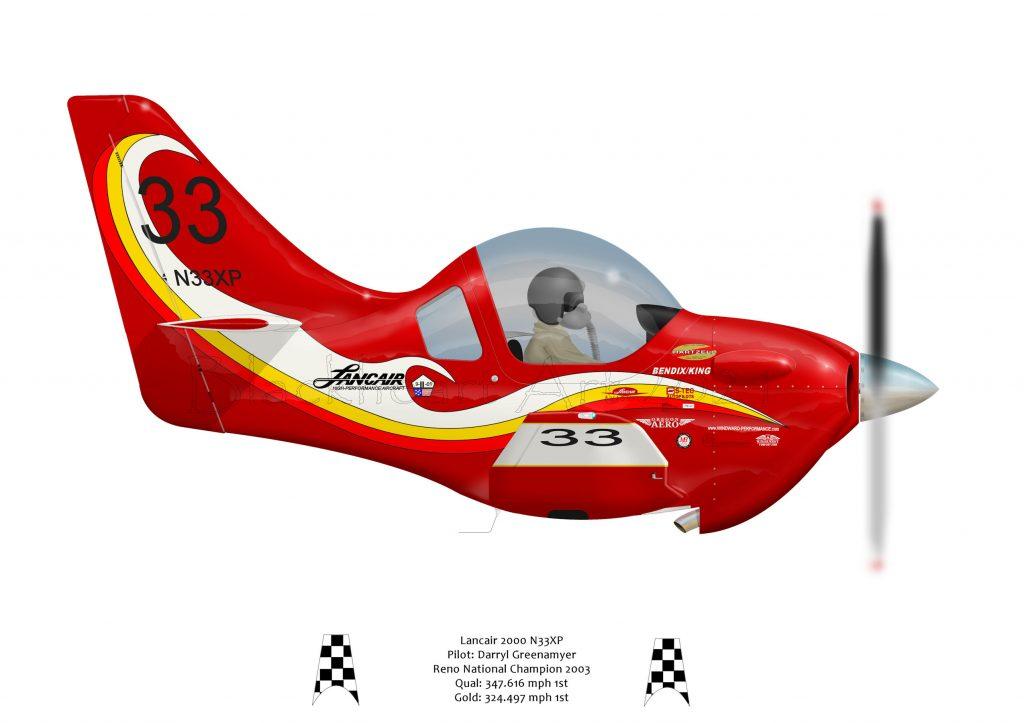 Sport Class racer 33 Flown by Daryl Greenamyer